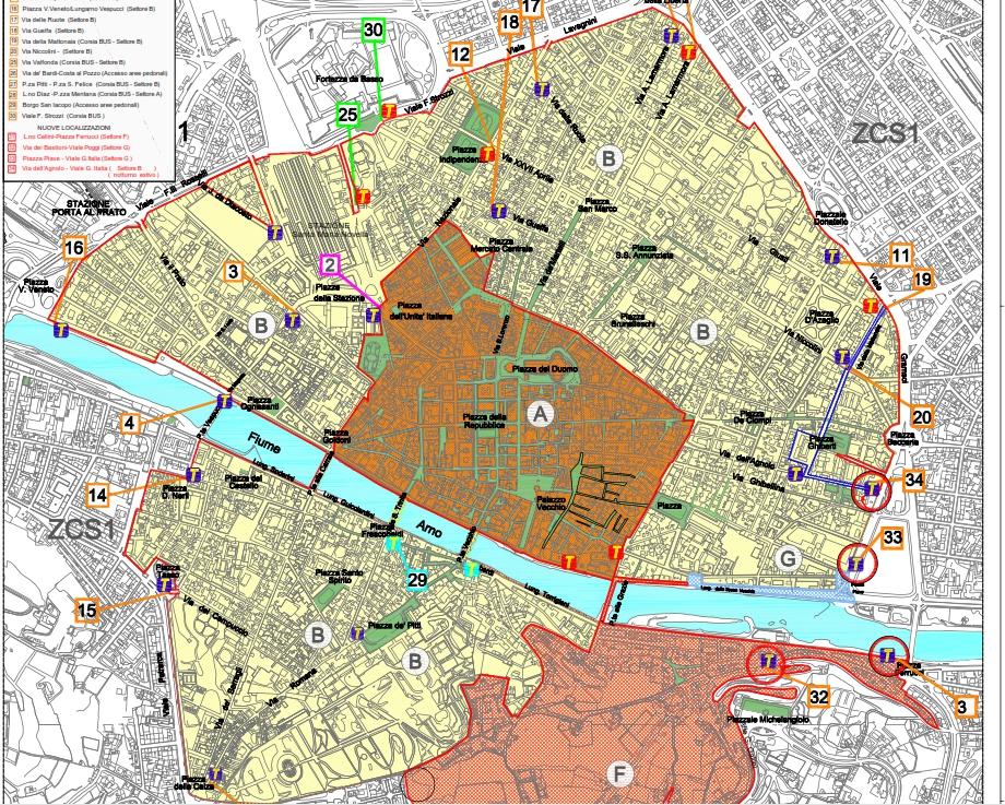 Ztl Firenze Cartina.Ztl Notturna A Firenze 2014 Mappa