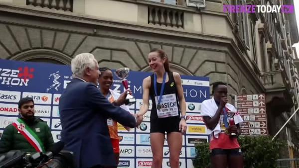Firenze Marathon 2019: l'arrivo dei vincitori e la premiazione / VIDEO