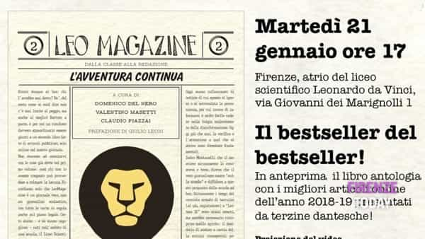 Leomagazine 2: al liceo da Vinci presentazione del nuovo libro del giornale online. Intervento di Nardella
