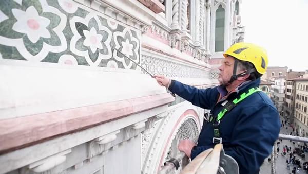 Al via i monitoraggi delle pareti esterne dei monumenti del Duomo di Firenze