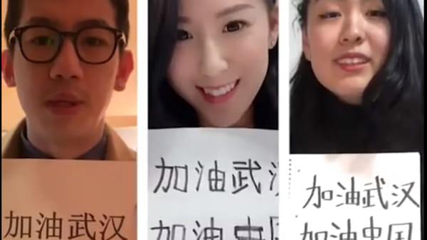 """Coronavirus: """"Ama la Cina"""", il messaggio dei giovani italo-cinesi per San Valentino"""