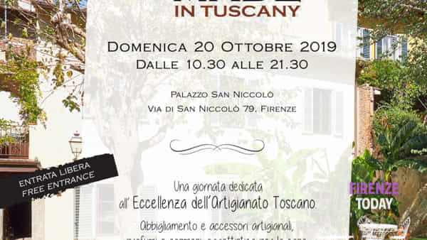 Hand made in Tuscany, il mercato autunnale