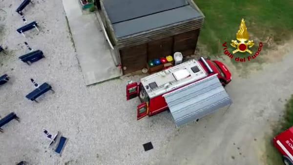 Disperso a Bilancino: ricerche con il drone sul lago / VIDEO