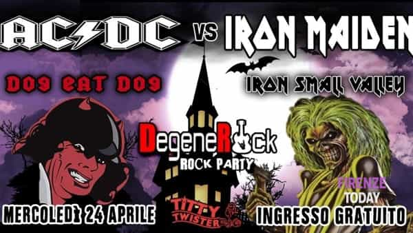Metal rock legends: AC/DC vs Iron Maiden + degenerock rock party