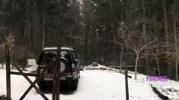 Vaglia: scende la neve a Bivigliano / VIDEO
