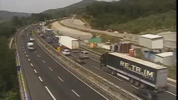 Autostrada A1: 6 km di coda vicino a Firenze