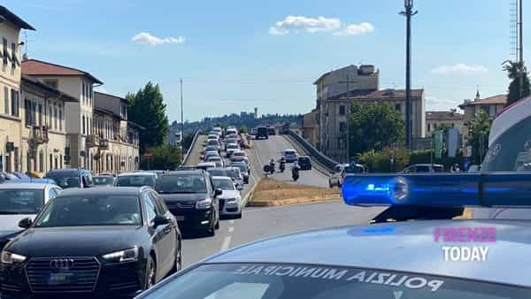 Incidente a Coverciano: traffico bloccato / FOTO
