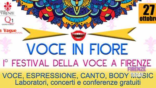 Voce in fiore, il Primo festival della voce a Firenze