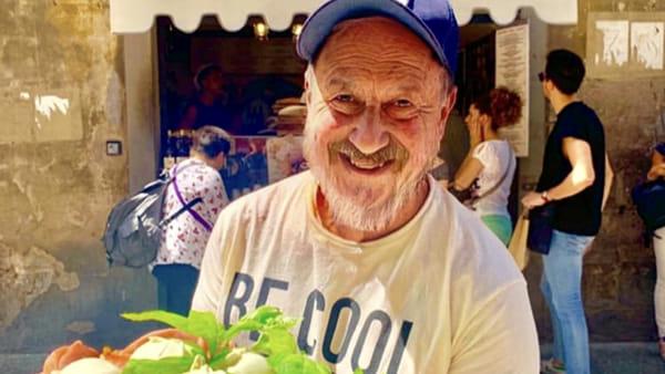 Tommaso Mazzanti dell'Antico Vinaio invecchiato da Face App