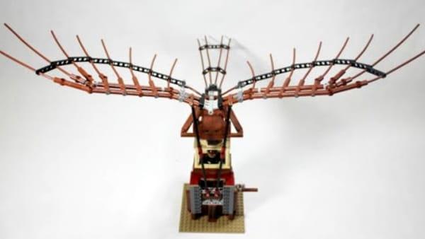 Da Vinci Experience: in mostra il modellino LEGO funzionante dell'ornitottero   FOTO