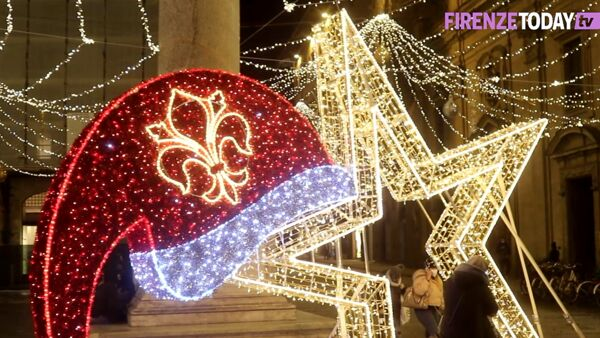 Natale 2020, le luminarie di Firenze / VIDEO
