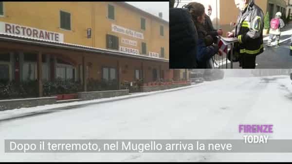 Dopo il terremoto arriva la neve in Mugello: donna sfollata in travaglio portata in ospedale