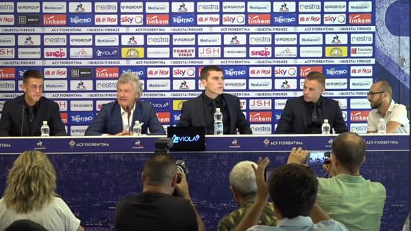 Fiorentina: presentati Rasmussen, Terzic e Zurkowski