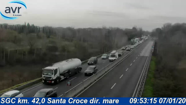 Traffico in superstrada FiPiLi: code verso Firenze / VIDEO