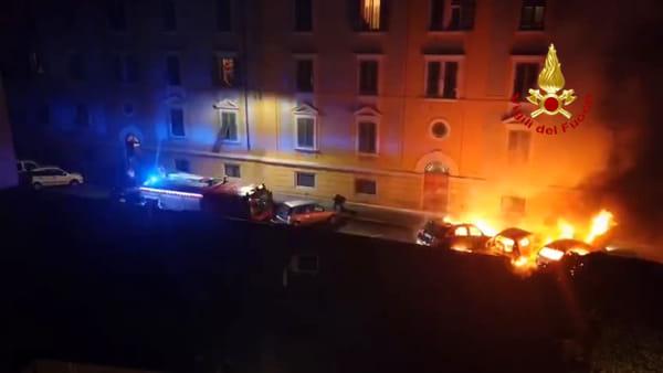 San Frediano: auto bruciate nella notte / VIDEO