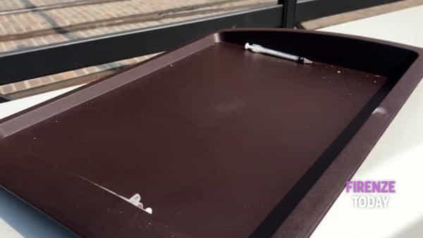 Stazione: siringhe lasciate su un vassoio / VIDEO