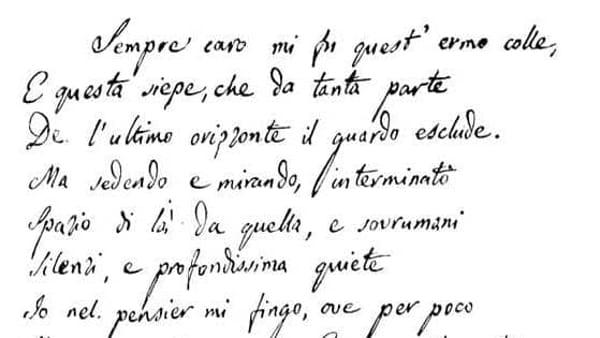 200 anni dall'Infinito, Firenze omaggia Giacomo Leopardi