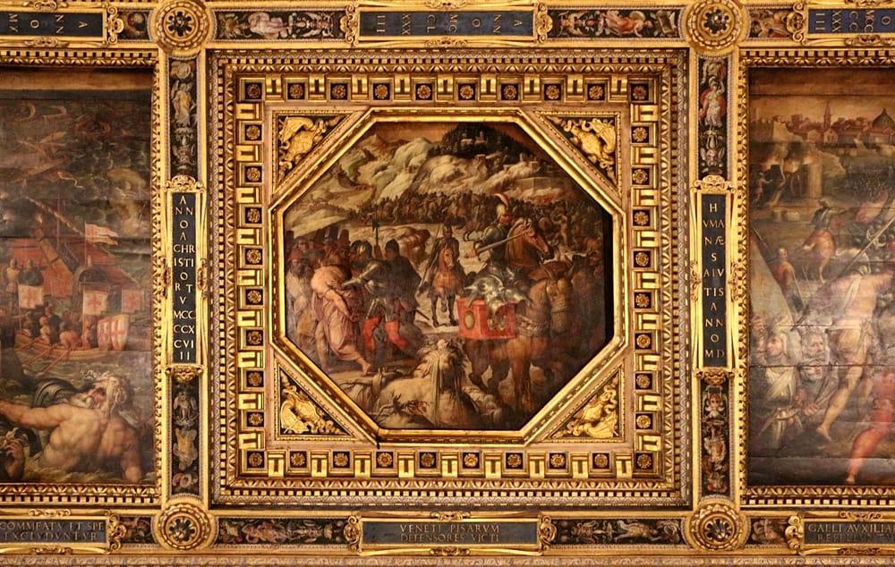 Sconfitta dei veneziani nel Casentino, Giorgio Vasari (Salone dei Cinquecento, Palazzo Vecchio)