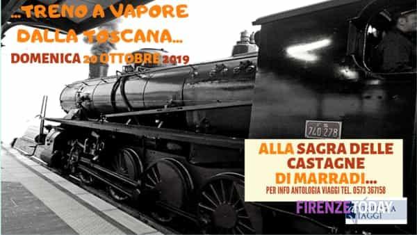 treno a vapore dalla toscana alla sagra delle castagne a marradi