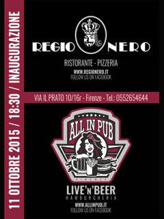 Regio Nero, All in live pub